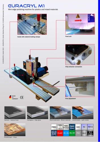 EURACRYL M1 - Mini edge polishing machine