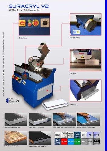 EURACRYL V2 - Chamfering / polishing machine