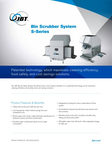 Bin Scrubber System S-Series