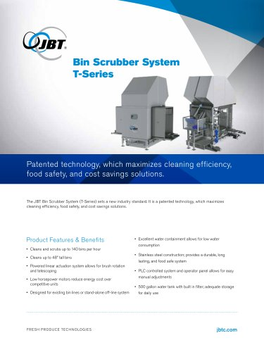 Bin Scrubber System T-Series