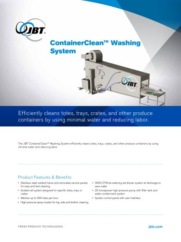 ContainerClean™ Washing Sytsem