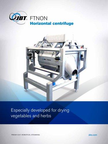 Horizontal centrifuge