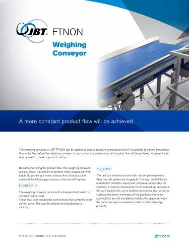 Weighing conveyor