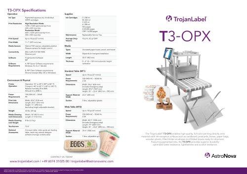 T3-OPX Flyer