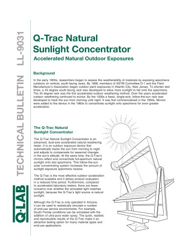 Q-Trac Natural Sunlight Concentrator