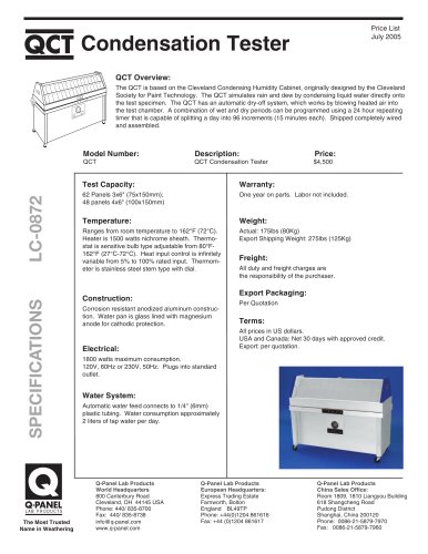 QCT Condensation Tester
