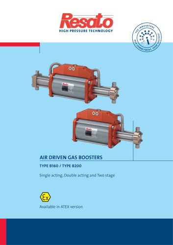 Air driven gas boosters
