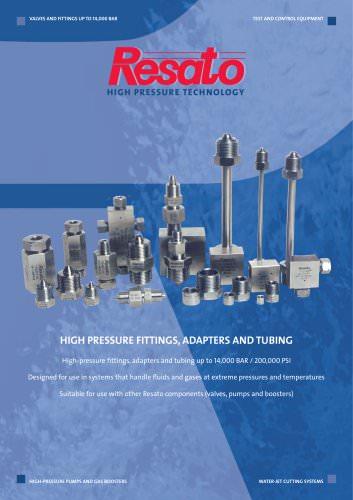 High pressure fittings