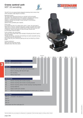 Crane control unit KST 10 swiveling