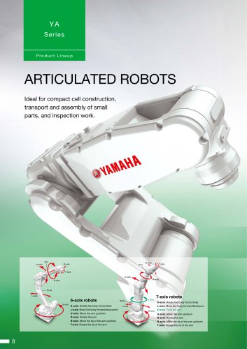 Vertically articulated robots