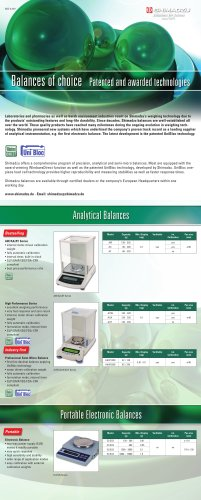 Balances of choice - Patented and awarded technologies