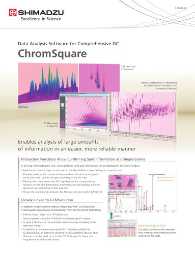 Data Analysis Software for Comprehensive GC ChromSquare