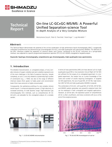 On-line LC-GC×GC-MS/MS: A Powerful Unified Separation-science Tool
