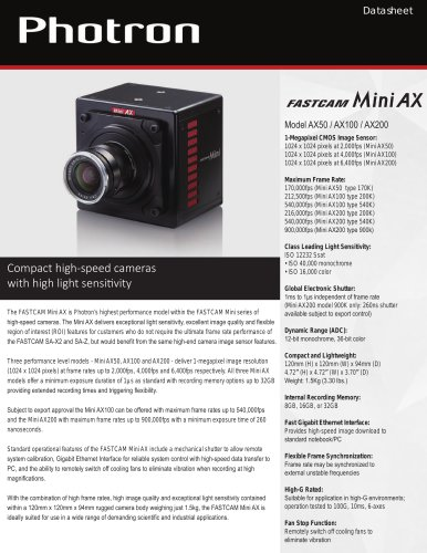 FASTCAM Mini AX Series