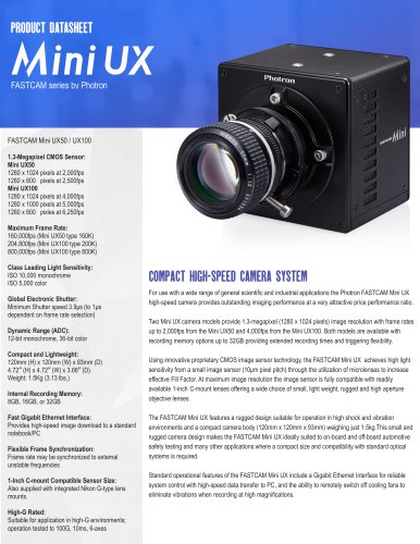 FASTCAM Mini UX Series