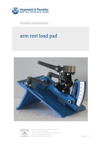 arm rest load pad
