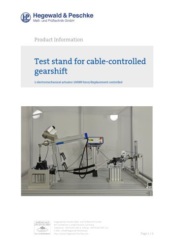 Component test stand for cable-controlled gearshifts