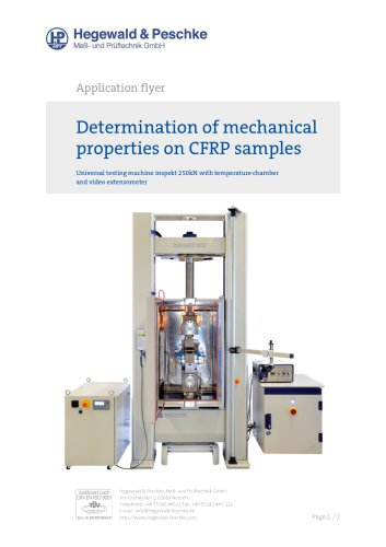 DETERMINATION OF MECHANICAL PROPERTIES ON CFRP SAMPLES