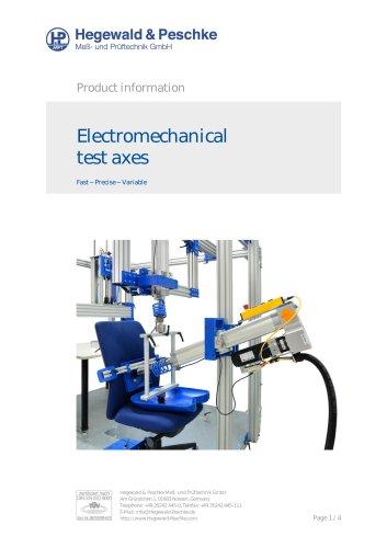 Electromechanical test axes