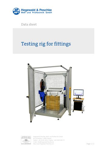 Fatigue test stand for fittings