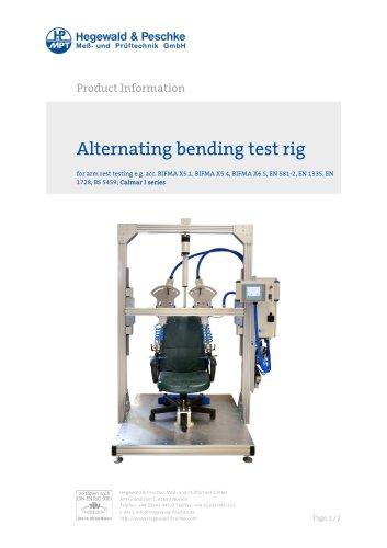 Furniture testing - Alternating bending test rig