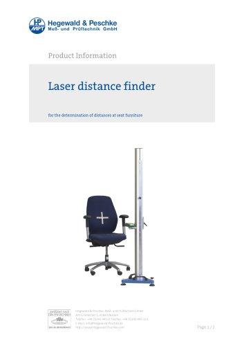 Furniture testing - Single test rigs - Laser distance finder