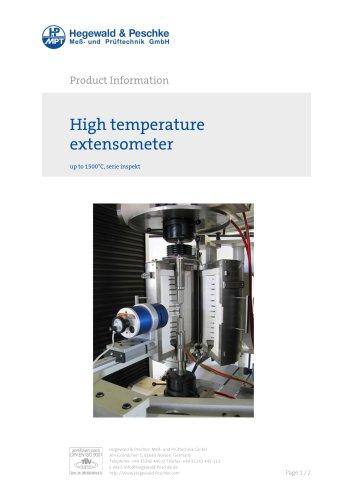High temperature extensometer
