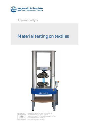 Material testing on textiles