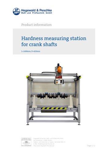 Rockwell hardness tester for crank shafts