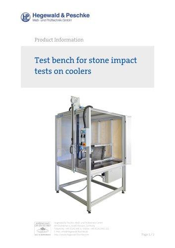 Stone impact tester