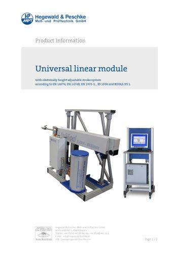 Universal linear module