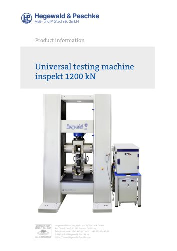 Universal testing machine inspekt 1200 kN