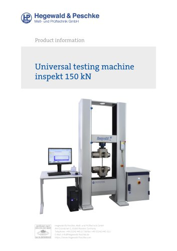 Universal testing machine inspekt 150 kN