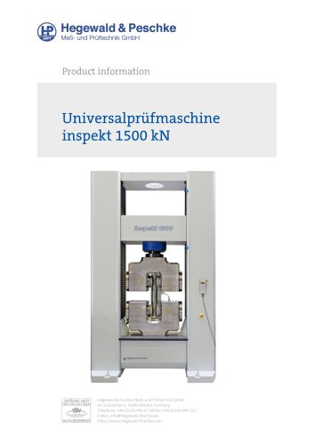 Universal testing machine inspekt 1500 kN