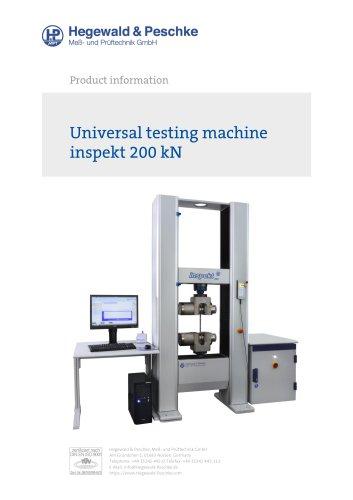Universal testing machine inspekt 200 kN