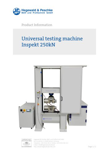 Universal testing machine Inspekt 250 kN