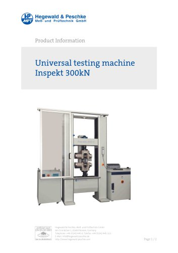 Universal testing machine Inspekt 300kN