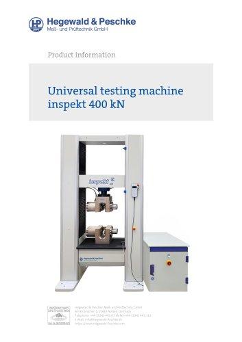 Universal testing machine inspekt 400 kN