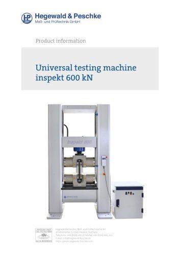 Universal testing machine inspekt 600 kN