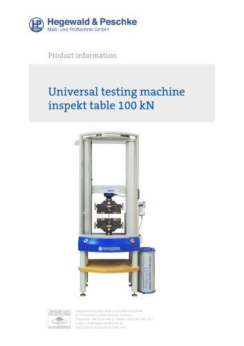 Universal testing machine inspekt table 100 kN