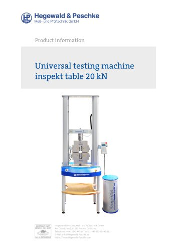 Universal testing machine inspekt table 20 kN