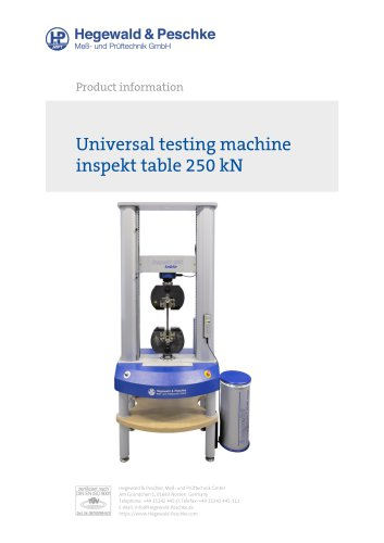 Universal testing machine inspekt table 250 kN