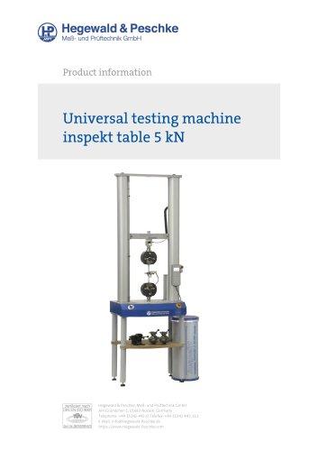 Universal testing machine inspekt table 5 kN