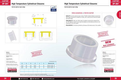 CAPTOP EP 207 High Temperature Cylindrical Closures