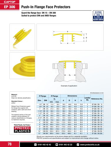 Captop EP 306 Push-in flange face protectors