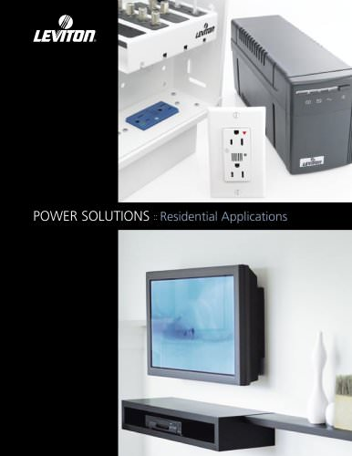 POWER SOLUTIONS :: Residential Applications