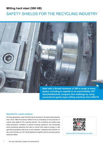 Milling hard steel (500 HB)