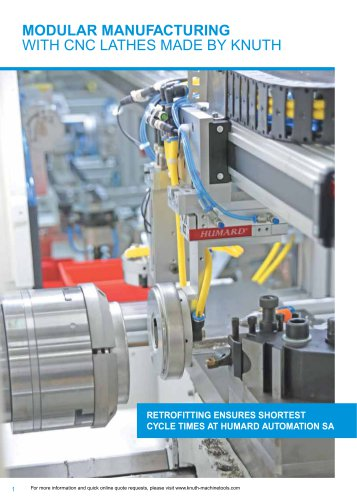MODULAR MANUFACTURING WITH CNC LATHES MADE BY KNUTH
