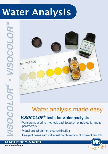 VISOCOLOR ® tests for water analysis
