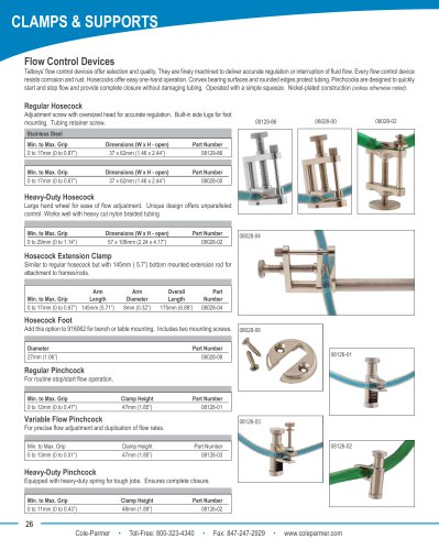 Cole-Parmer® flow control devices brochure